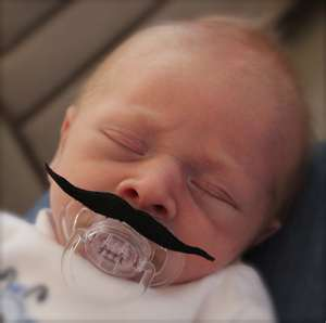Mustache Pacifier Movie Star Style FREE SHIPPING